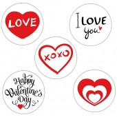 Valentine's Day Cupcake Toppers - 15 x 2""